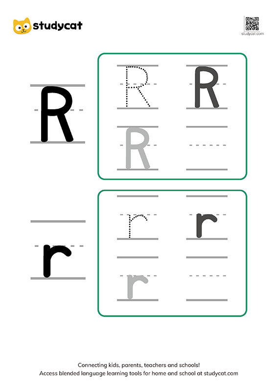 Letter Rr Writing Worksheets