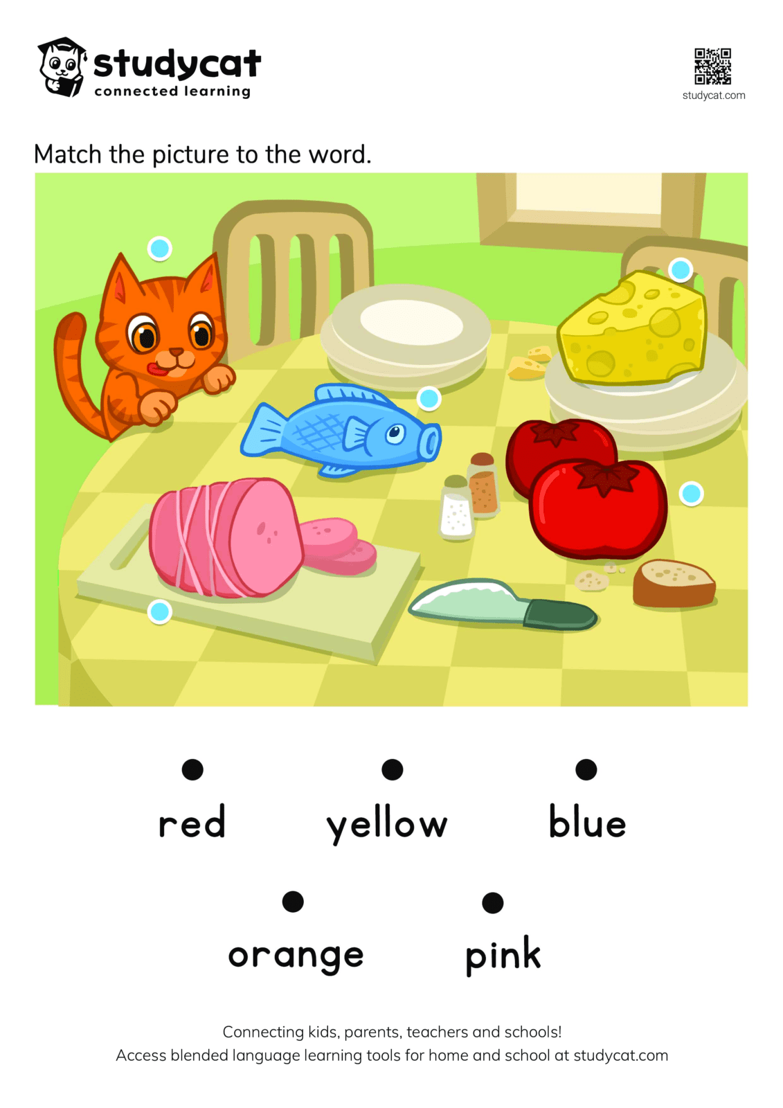 Colours Matching Page For Kids