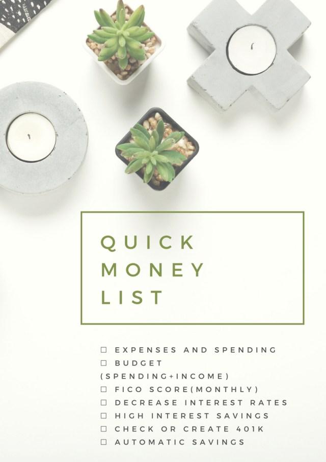 Quick-Money-Checklist-2018