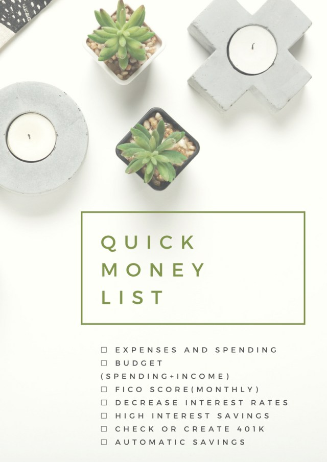 Quick-Money-Checklist-2018