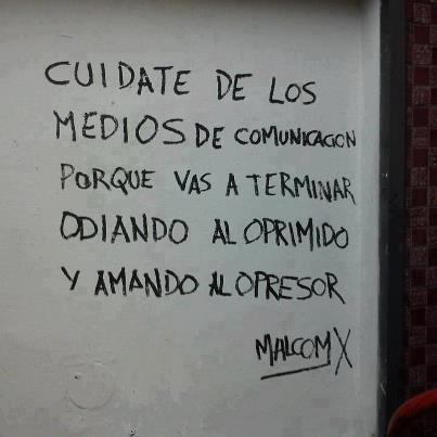 MALCOM X sobre los medios