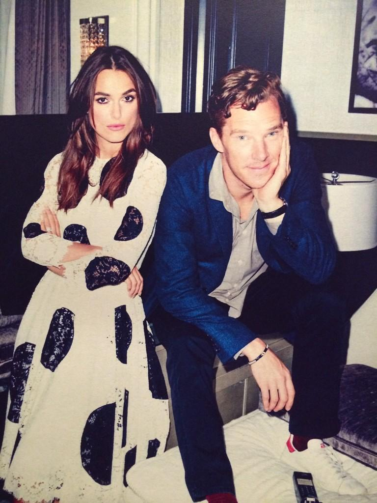 <br /><br /> @KatePeople: Remember when #BenedictCumberbatch stopped by to take some pics with Keira Knightley at #TIFF14? Here's a sneak peak!<br /><br />