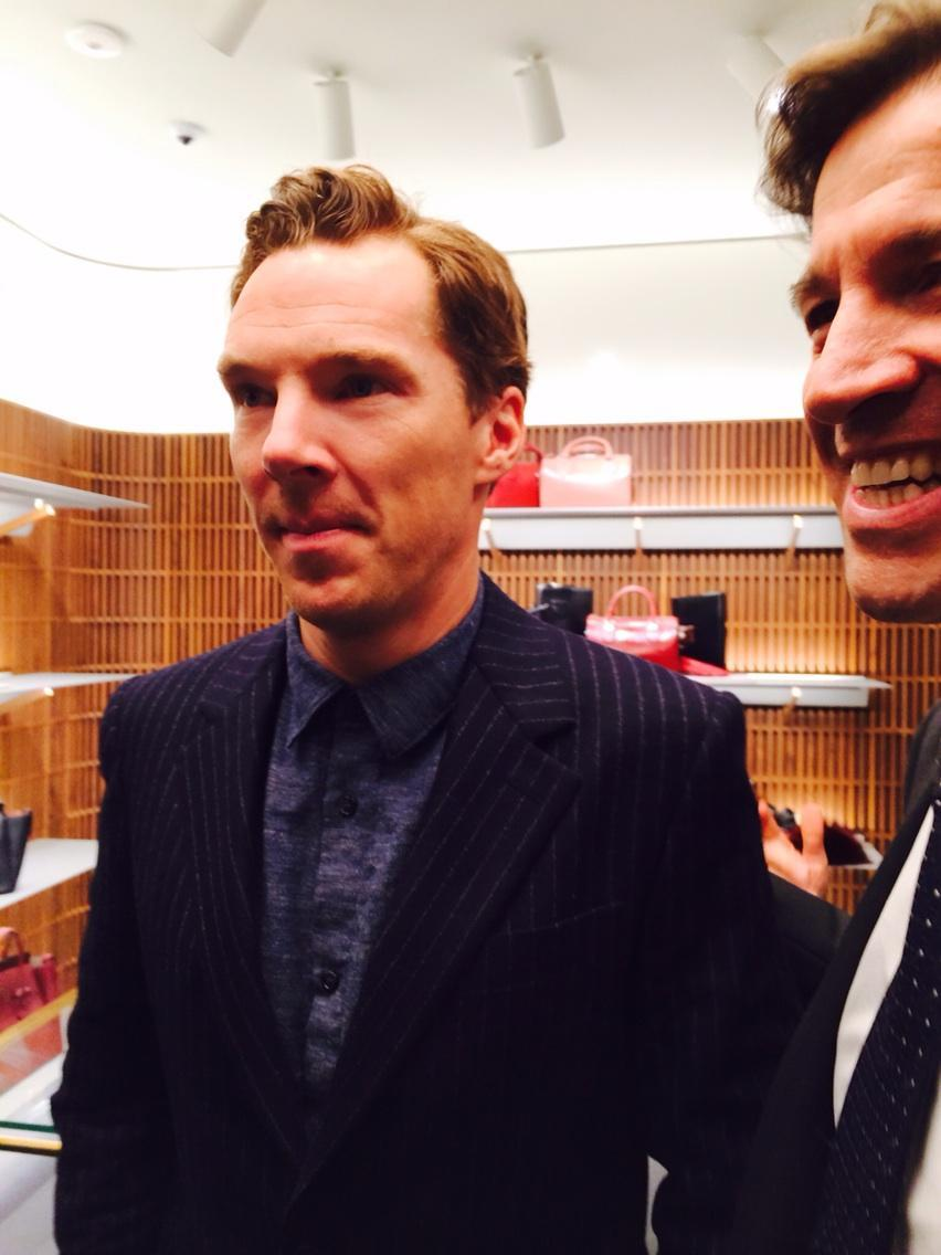 Alexis Parr    Benedict cumberbatch at the swish new Bally boutique Bond St opening dinner