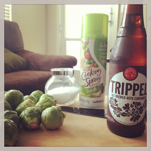 Brussel sprout chips coming soon to the blog and into my belly #drinkandspoon #trippel #craftbeer #newbelgium #brusselsprout @newbelgium