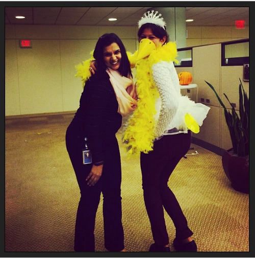 "Woah! Blast from the past. My friend recently posted this to her instagram page with the hashtag ""mamaduck"" - what she (as one of a VERY small group of people knew at Halloween - that I was 6 weeks pregnant) was calling me in whispers throughout the day. The tutu that I added to aid in the ridiculousness of my costume was strategically bought to hide the fact that due to the early first trimester pregnancy bloat - I was already sporting a bump despite baby girl being only the size of a pea. I laughed when I checked back to Halloween on my blog to see if I had already posted this picture. Turns out I didn't post the picture but I did explain that I cancelled my Halloween plans this past October due to ""stomach issues"" (read: the oh-so-not-fun-and-so-glad-it-didn't-last-past-the-first-trimester morning all-day sickness). This has been a rambling post."