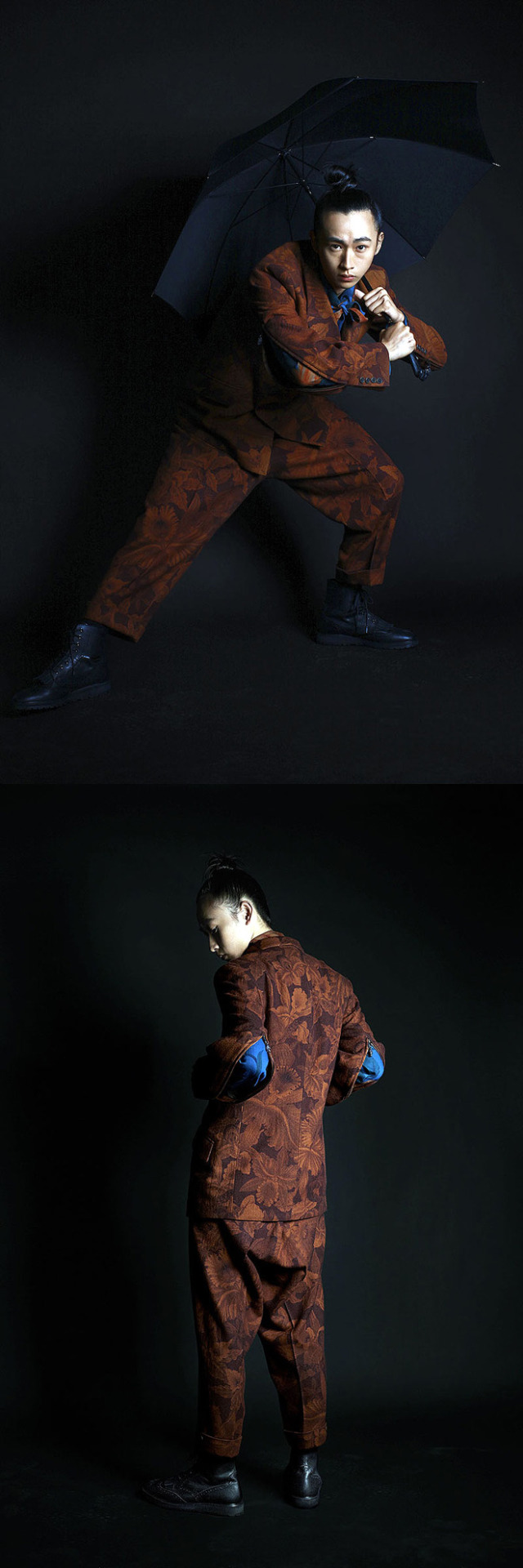 Shohei Yamashita in Yohji Yamamoto AW14 by Shiraz Randeria for Wallpaper* (Thai Edition), October 2014.