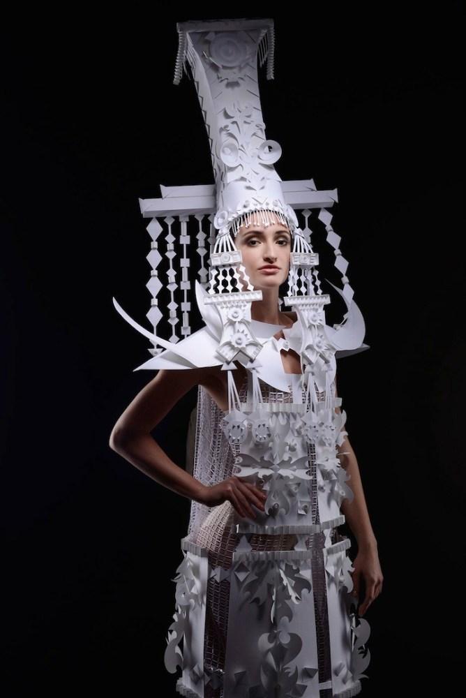 Ornate Mongolian Wedding Costumes Made Out of Paper by Asya Kozina (2/6)