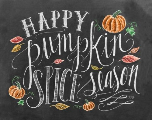 Fall Ideas and Inspiration Happy Pumpkin SPice Season CHalkboard Print-  Fall In Love with Fall- Fall Inspiration Pics  Frosted Events  www.frostedevents.com