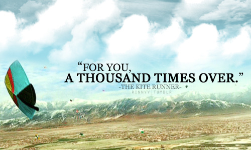 kite runner tumblr quote book