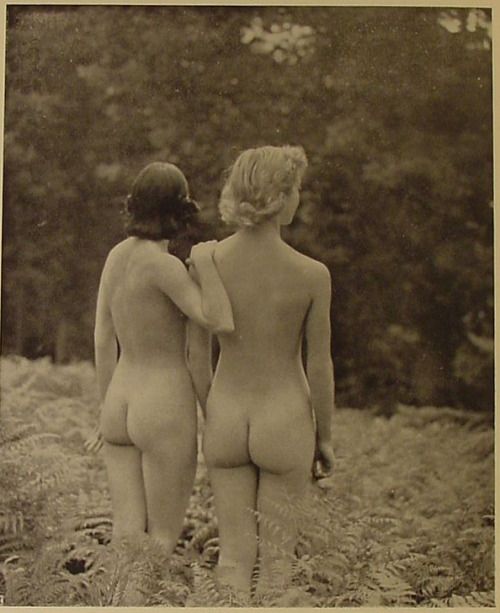 Retro nymphs, rear view.