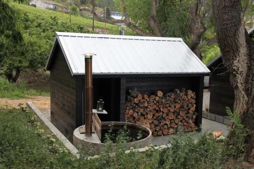 building a wood fired sauna