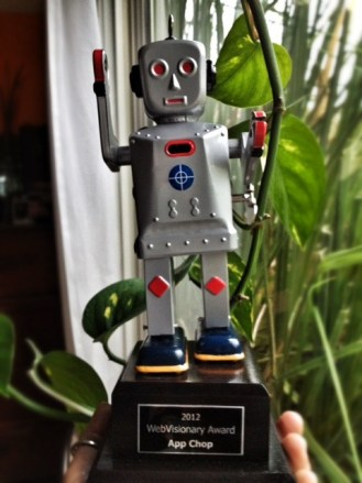 Webvisionary Award Trophy
