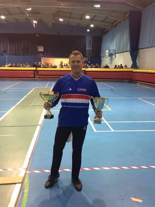 Steve Harris 2014 Over 40s British Indoor Champion