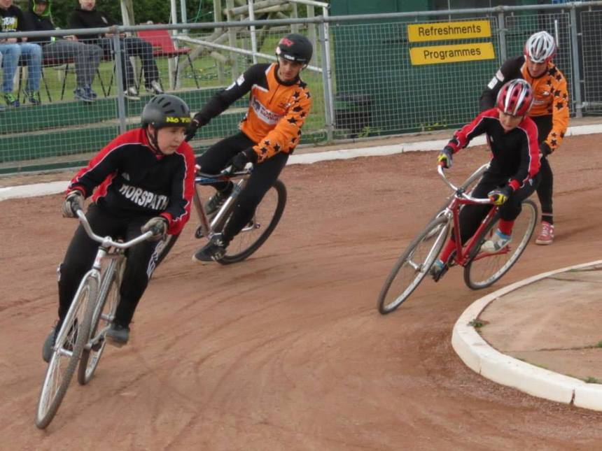 Horspath v Sheffield earlier this season featuring mismatched riders.