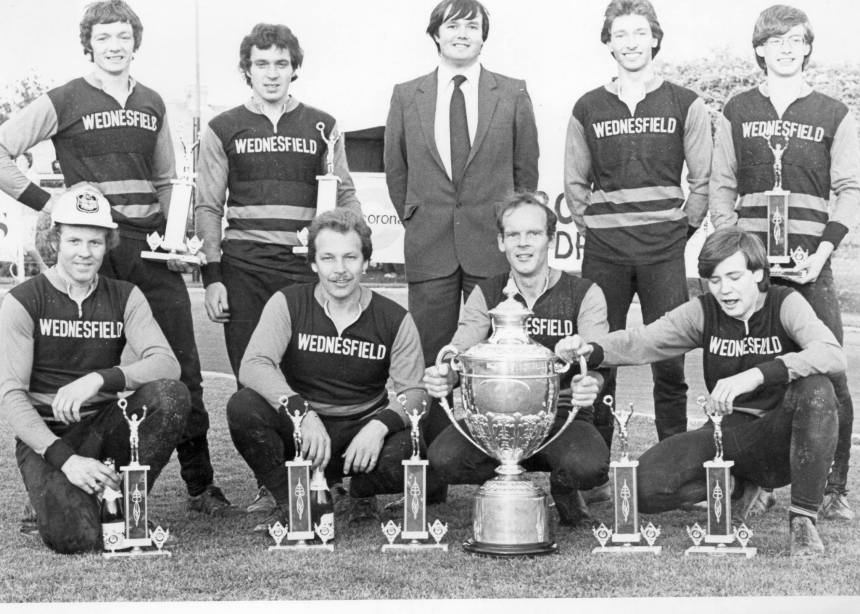 Mick with 1981 British Champions Wednesfield.