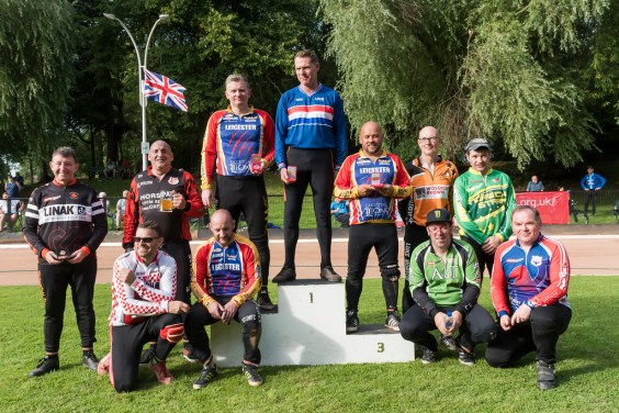 2017 British Over 40s Podium. Photo by Andy Whitehouse.
