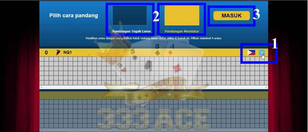 memilih tampilan permainan sabung ayam online