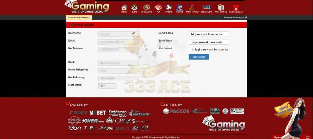 reset password permainan sabung ayam online