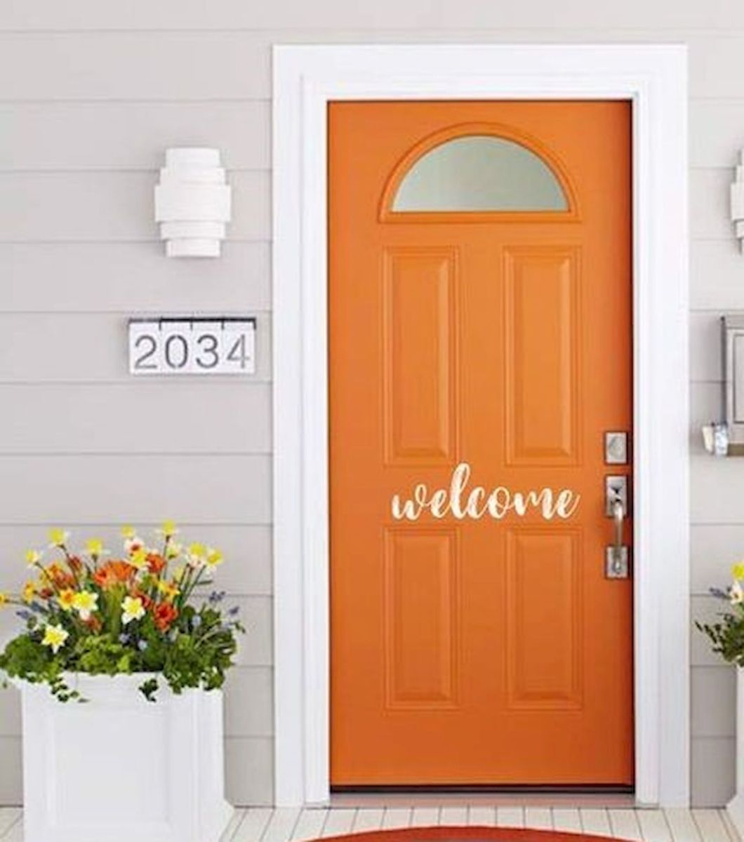 33 Magical Front Door Colors Design Ideas (15)