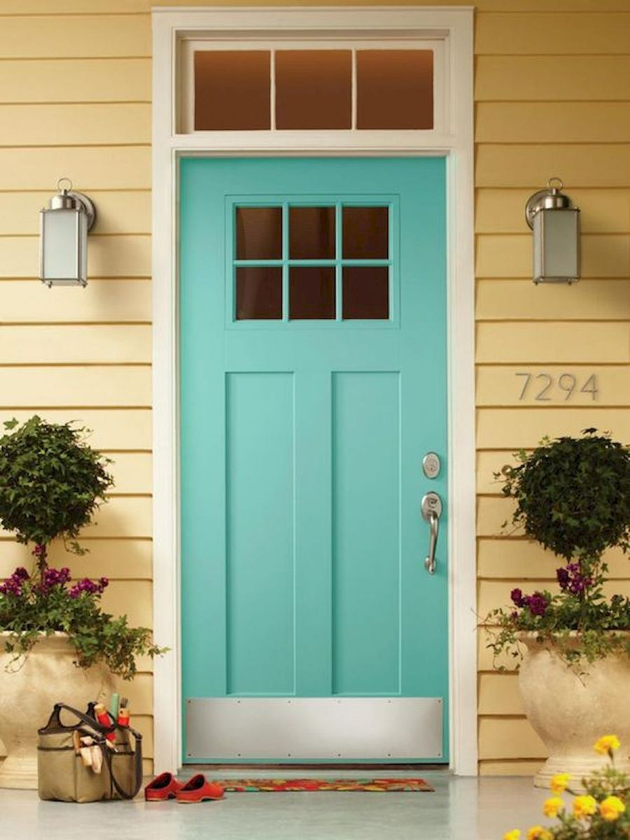 33 Magical Front Door Colors Design Ideas (29)