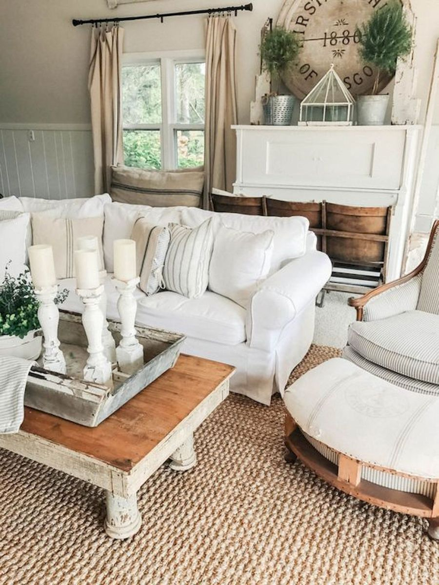 33 Stunning Farmhouse Living Room Curtains Design Ideas And Decor (27)