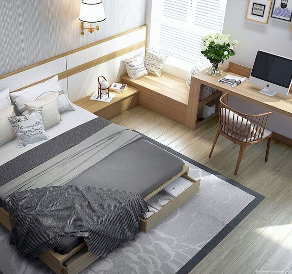 33 Ideas For Small Apartment Bedroom College (25)