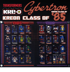 TRANSFORMERS KRE-O CLASS OF 1985 BOX SET