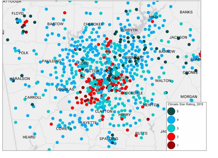 Monday Mapday: School Climate Ratings
