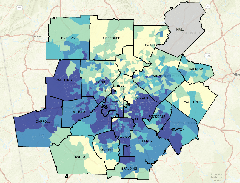 Map Monday High Eviction Rates Persist In Atlanta Metro Region 33n