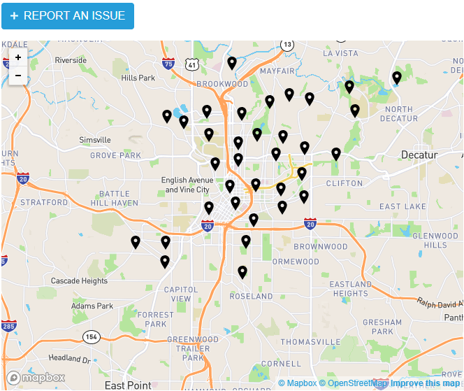 Map of submissions to the Clear the Clutter App