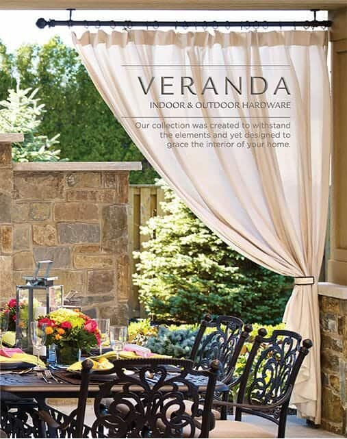 outdoor curtain rods and drapery hardware