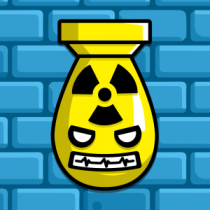 Botpocalypse Bomb Icon Blue Brick