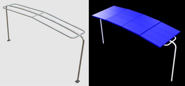 Bimini Solar Frame single arch