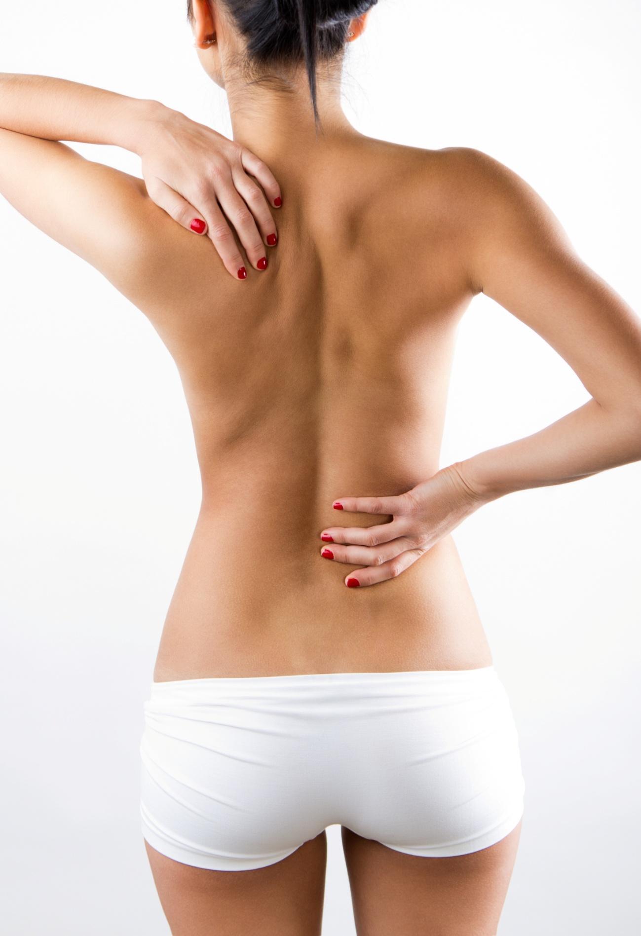 lupus mulher mostrando as costas