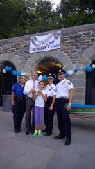 Assembly member Linares welcomed neighbors to National Night Out.