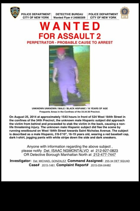 Wanted flyer Aug 26 2015
