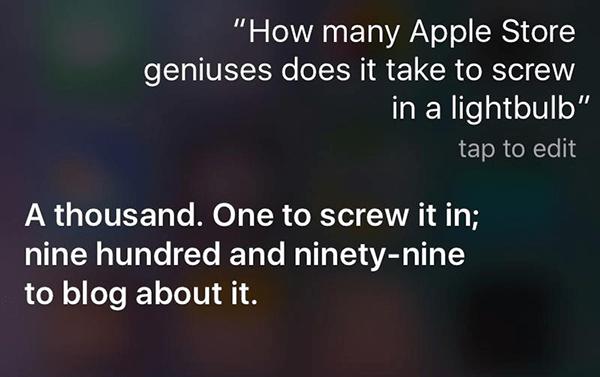funny Siri conversation