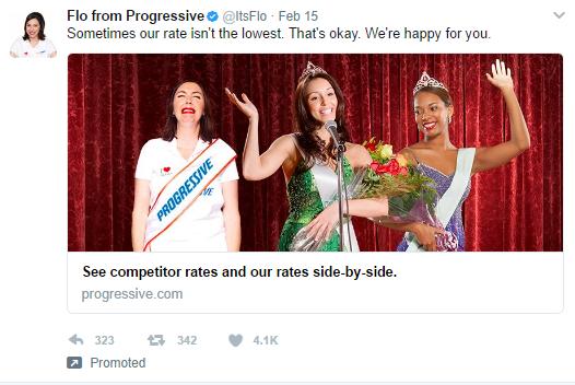 Progressive Twitter Ad