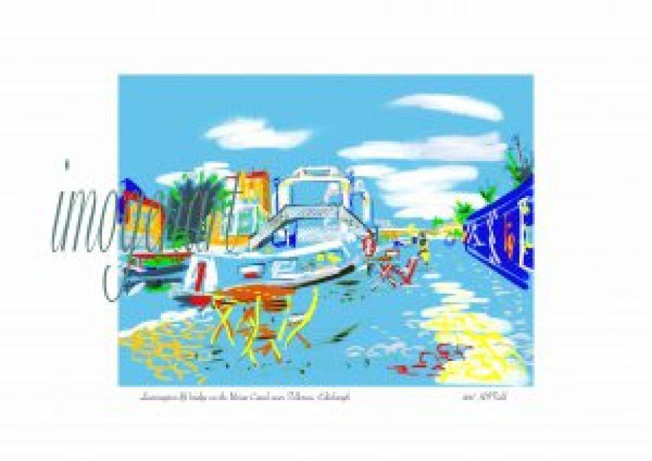 iPad print of Leamington lift bridge, Union Canal