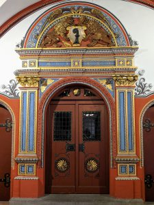 Elaborate door in Basel