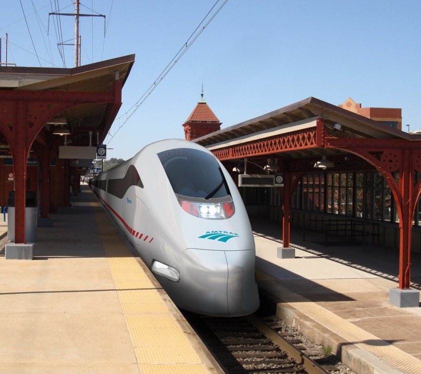 Photo: Concept Rendering of Amtrak's NextGen High Speed Rail at Existing Wilmington Station