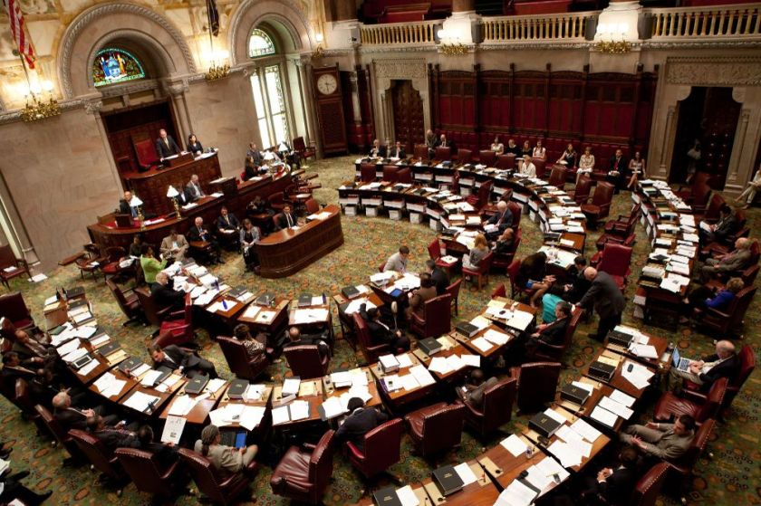 Photo of NY State Senate Floor