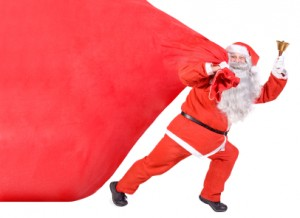 Santa Claus with a big bag
