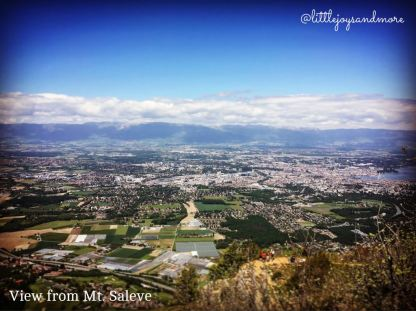 View from Mt. Saleve Geneva