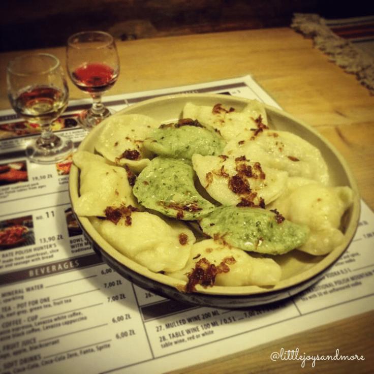 3 days in Krakow_Mixed Vegetarian Dumplings