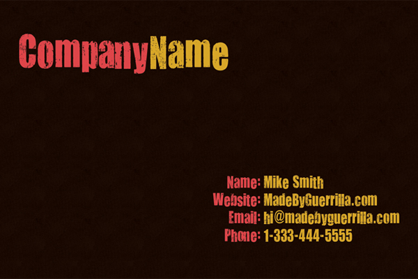 Business Card Photoshop Tutorial