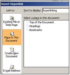 Hyperlinking