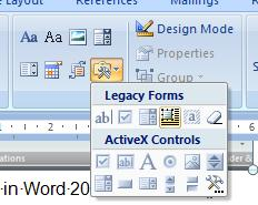 Legacy Tools and Creating Forms