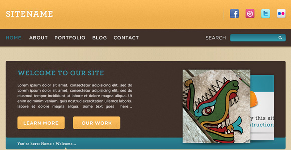 Design a Warm, Cheerful Website Interface in Adobe Photoshop