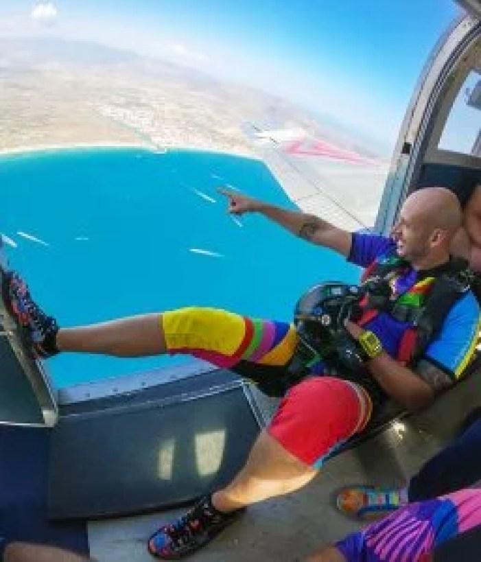 shortie summer skydiving jumpsuit